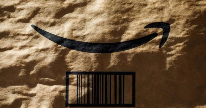 Amazon delivery package made of recycled paper
