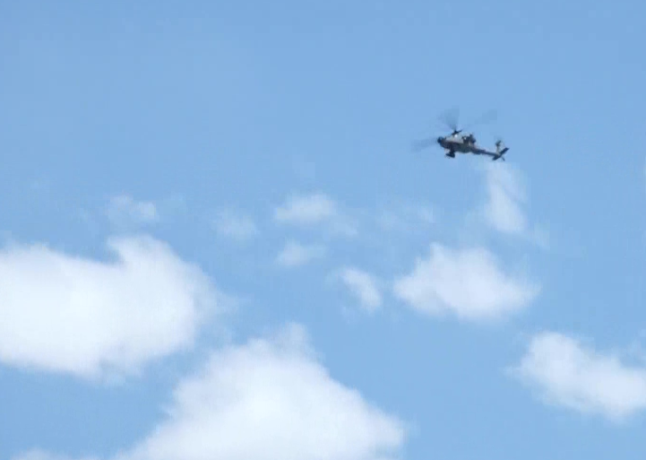 Apache Helicopters Deployed In Leh