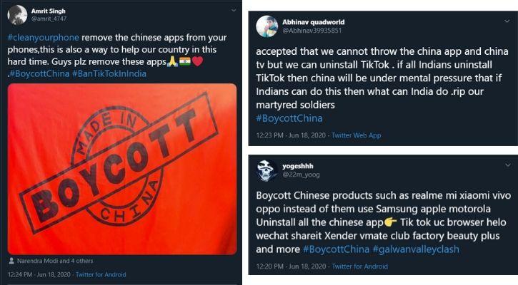 Boycott Oppo Vivo Realme OnePlus Xiaomi phones