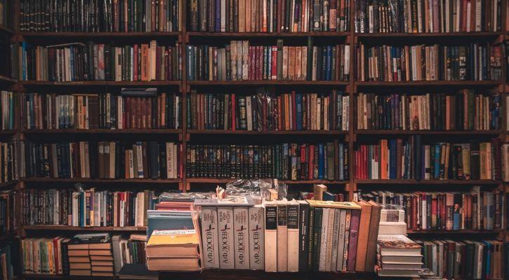 Library full of books