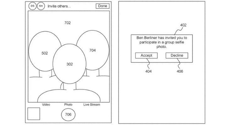 Apple iPhone group selfie patent
