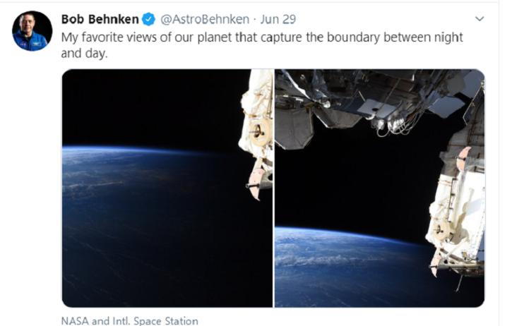 NASA Astronaut, Bob Behnken, Twitter Images, Earth Images, International Space Station, Technology News