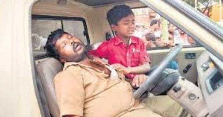 Boy avoids accident