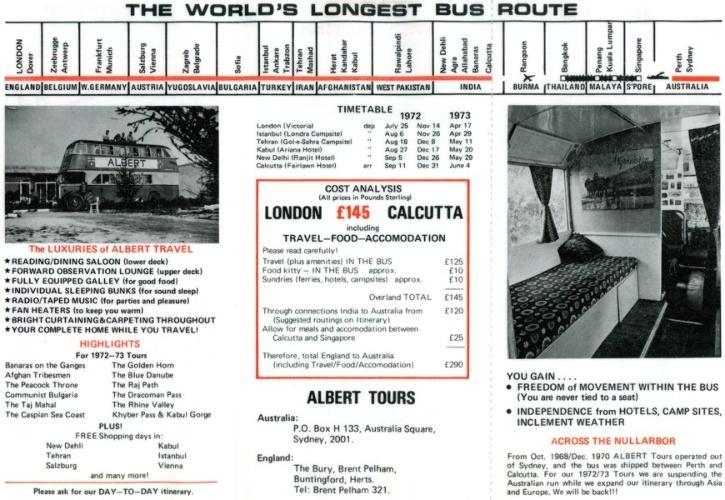 Albert Tours Itinerary
