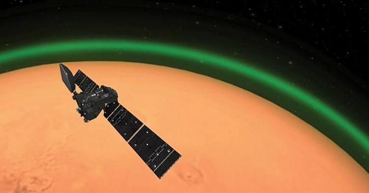 Mars green glow atmosphere