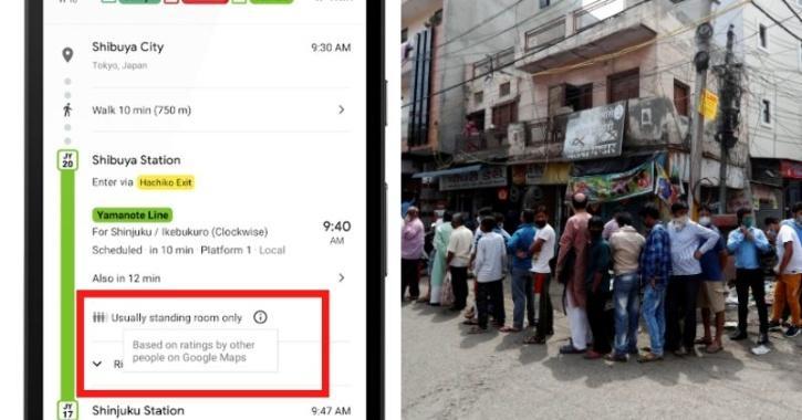 google maps crowd prediction