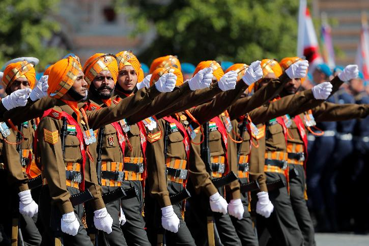 indian-contingent on Victory Day parade Russia