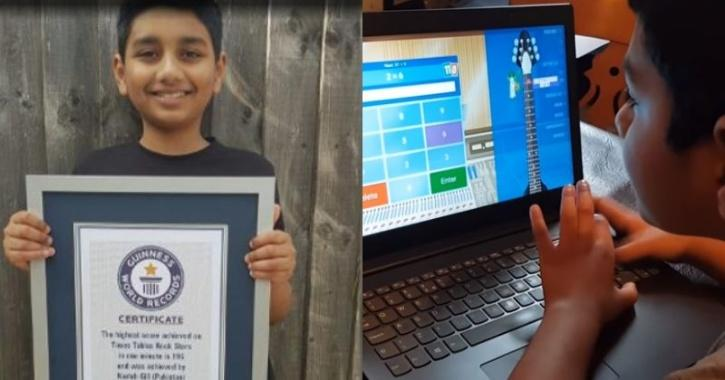 World Record for Solving 196 Math Sums