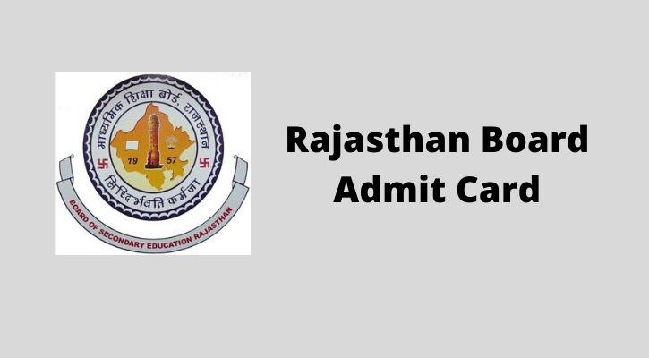 Rajasthan board admit card