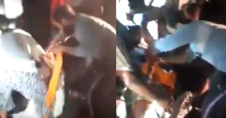 Sikh Man removes Turban