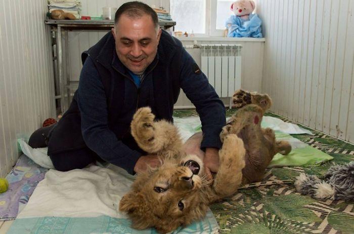 Simba with Karen