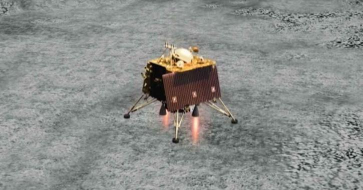ISRO Vikram Lander simulation on Chandrayaan-2