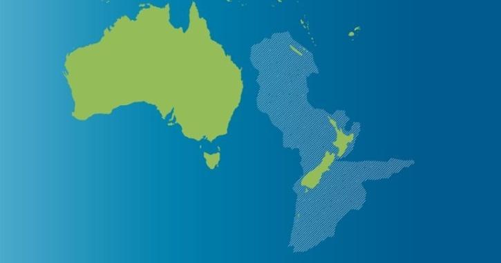 Zealandia continent map