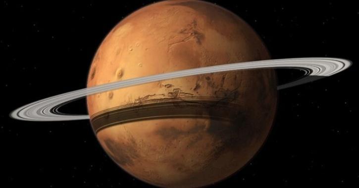 Mars moons rings