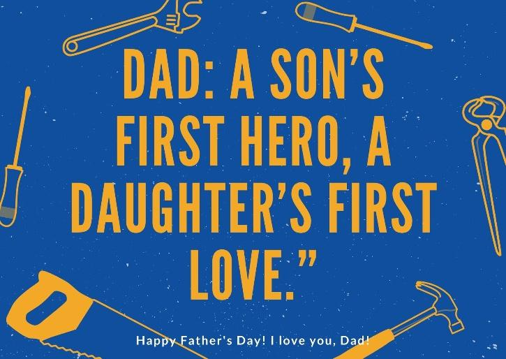fathers day quotes by son & daughter