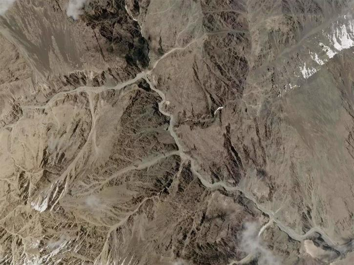 galwan valley Satellite Image