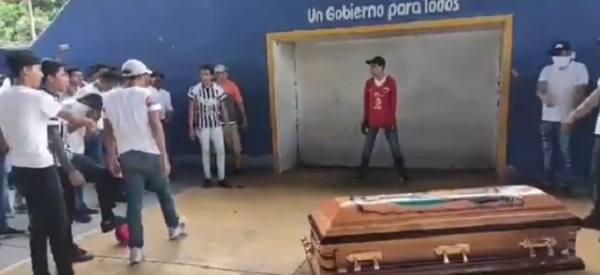 football coffin