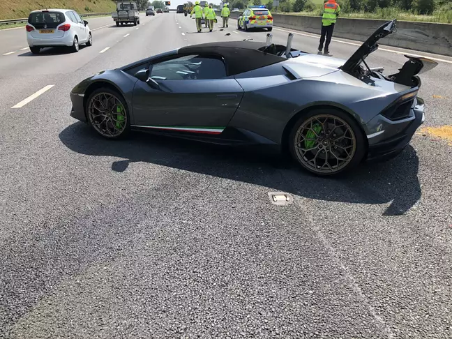 New Lamborghini in accident