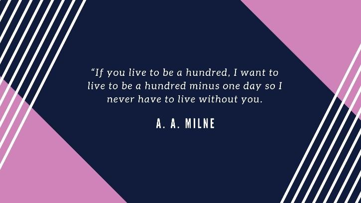 love quotes for him - A. A. Milne