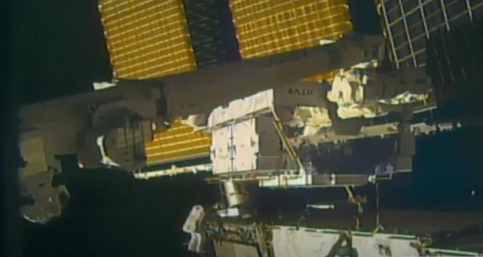 spacewalking astronaut