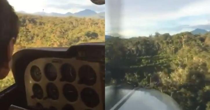 Pilot landing plane