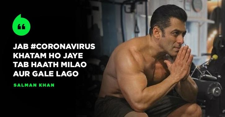 Amid Coronavirus Scare In India, Salman Khan Urges Fans To Not Do Shake Hands Or Hug Each Other