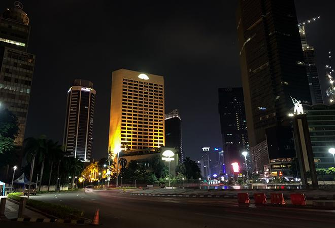 Buildings and traffic In Jakarta