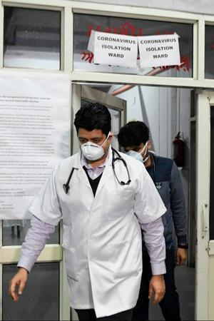 A person who arrived at the airport in Mangaluru from Dubai and was admitted to the isolation ward of a hospital with symptoms of coronavirus has gone missing, sources said.