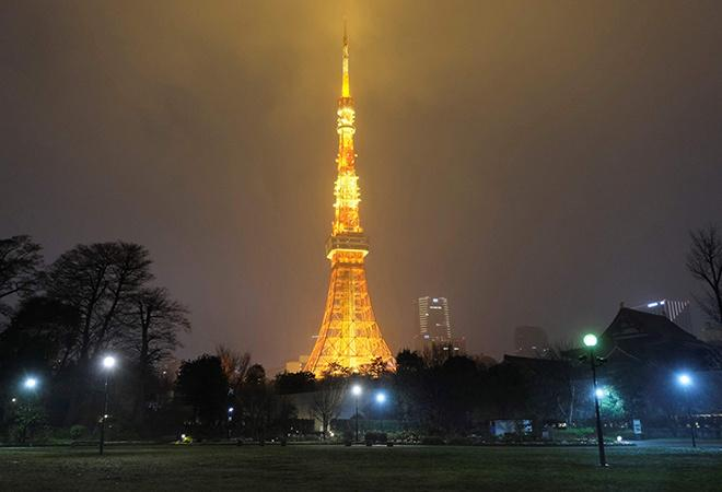 Tokyo Tower in Japan During Earth Hour 2020