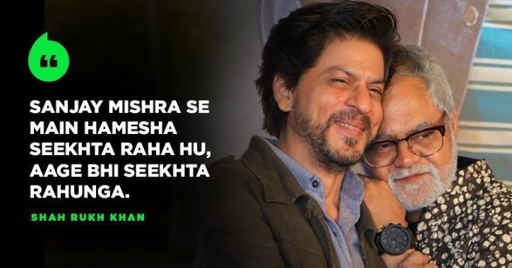 Shah Rukh Khan Posts Emotional Note For Sanjay Mishra