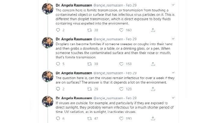 Dr Angela Rasmussen: Twitter, Coronavirus