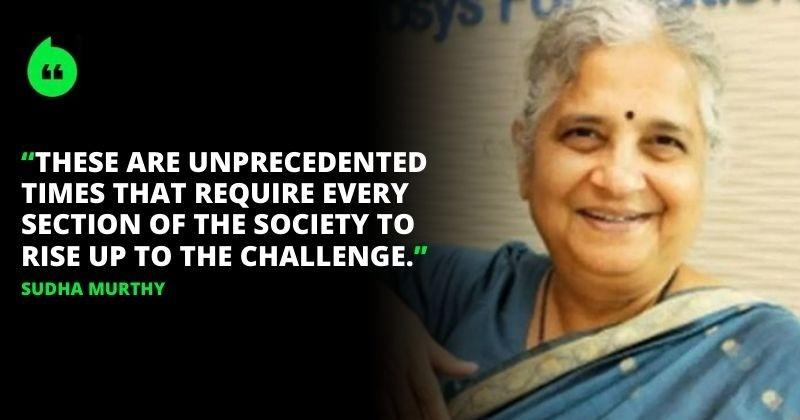 Sudha Murthy Pledges Rs 100 Crore To Fight COVID-19 Through Infosys Foundation