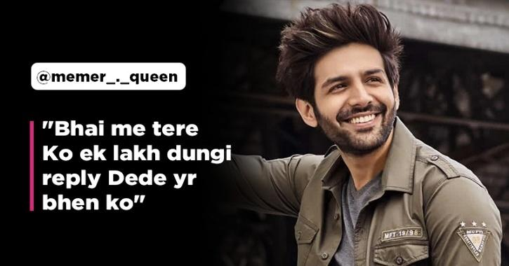 Fan Offers Kartik Aaryan Rs 1 Lakh For A Reply, Actor Responds And Asks