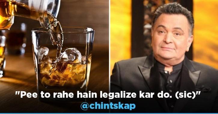 Rishi Kapoor Urges Govt To Open Liquor Stores In Evening, Says