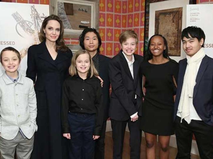 Brad Pitt and Angelina Jolie kids.