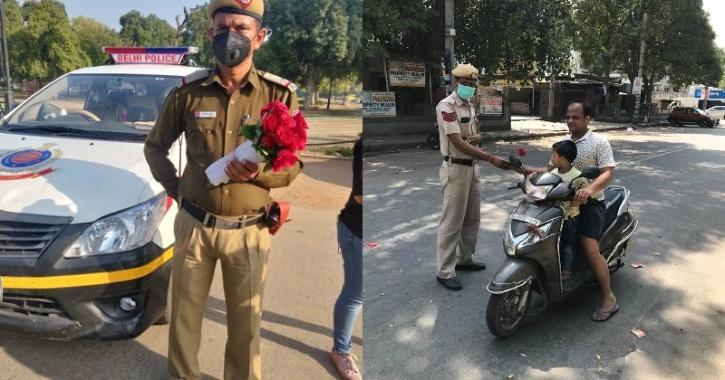 Delhi police roses