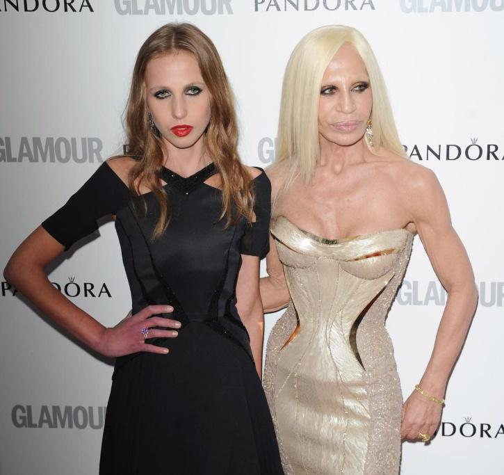 Donatella Versace and her daughter Allegra Versace Beck