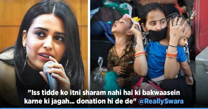 Trolls Make It Difficult For Swara Bhasker To Help Migrants, Says