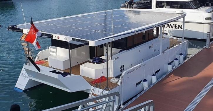Aquanima 40 solar powered yacht. (Image: Azura)