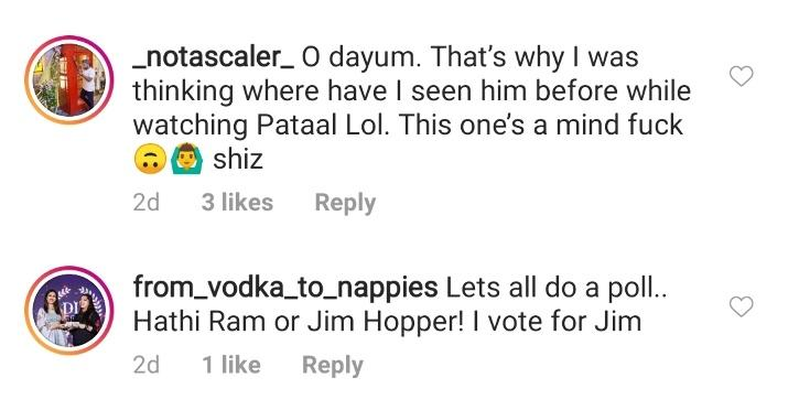 Fans Think Jim Hopper From Stranger Things Is Hathi Ram Chaudhary