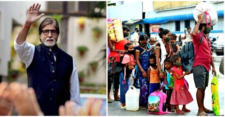 Amitabh Bachchan sends migrants Home
