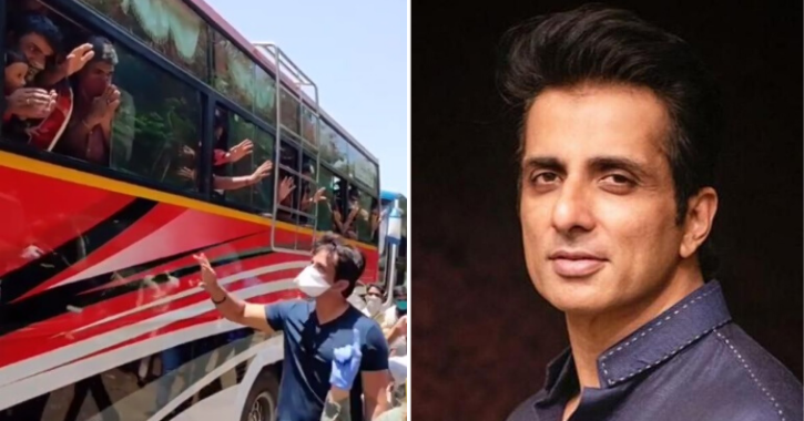 Sonu Sood Arranges 10 Buses For Migrant Workers In Mumbai, Visits The Them To Say Goodbye