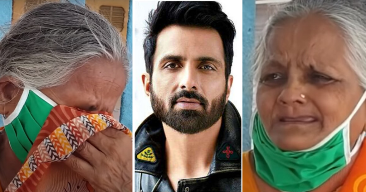 Sonu Sood Assures Help To A 70-Year-old Abandoned Woman Thrown Out By Her Own Son, Wins Hearts