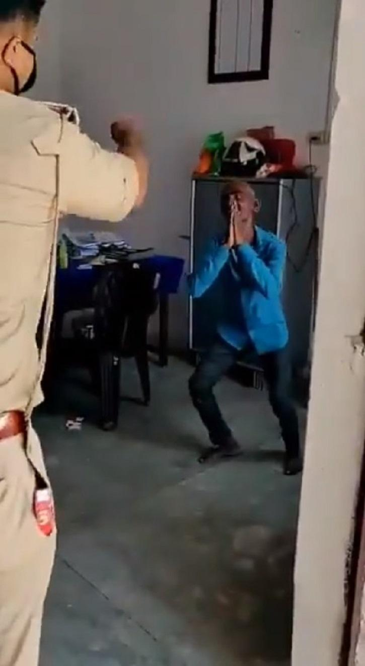 UP Police Make Man Dance To Sapna Chaudhary