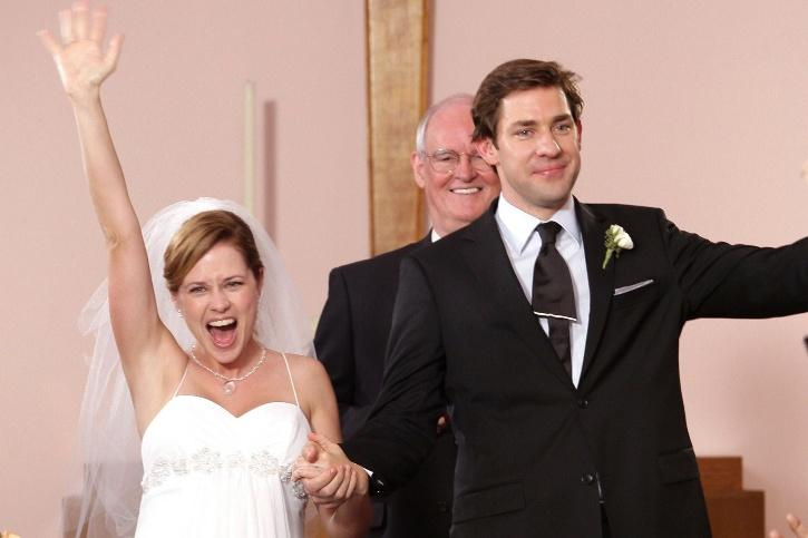 The Office: Jim and Pam wedding.