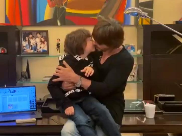 Shah Rukh Khan Sends Fans Into A Tizzy As He Sings Song Ft Son AbRam To Raise Money For COVID-19 Relief
