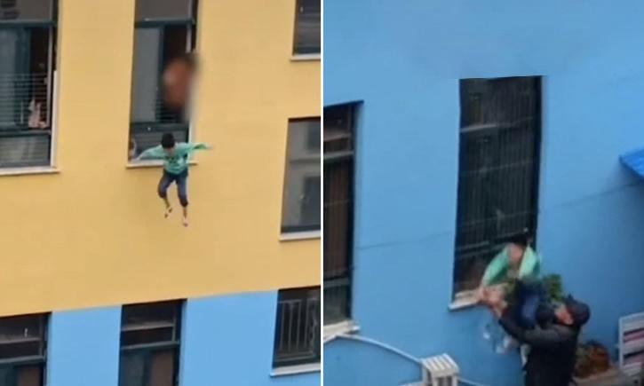 A kindergarten student in China jumped off from the third floor of his school building
