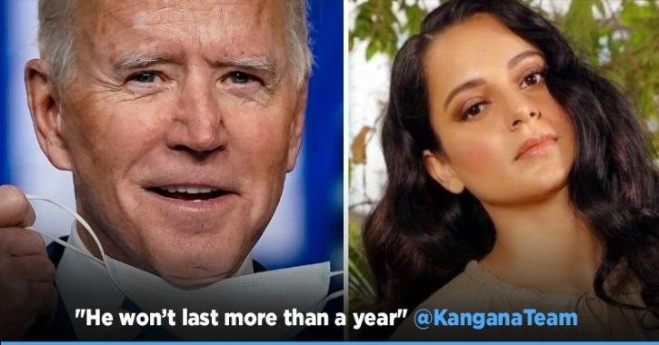 Kangana Ranaut Calls Joe Biden As