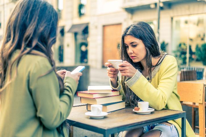 women on mobile phone