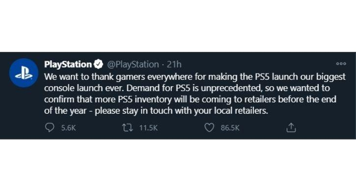 Sony playstation 5 in India